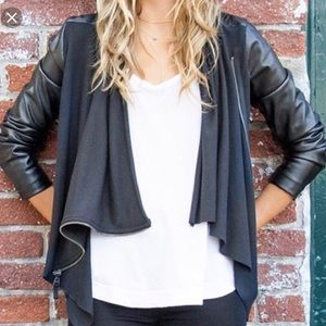 Blank NY Drape Leather Jacket M